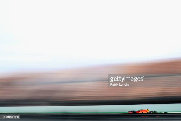 Max Verstappen of the Netherlands driving the Aston Martin Red Bull Racing RB14 TAG Heuer on track during day four of F1 Winter Testing at Circuit de...