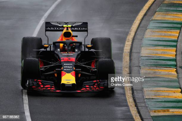Max Verstappen of the Netherlands driving the Aston Martin Red Bull Racing RB14 TAG Heuer on track during qualifying for the Australian Formula One...