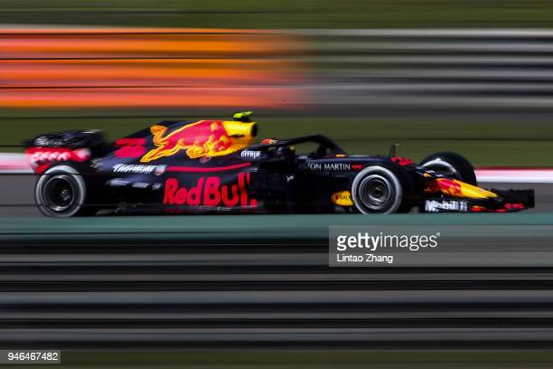 Max Verstappen of the Netherlands driving the Aston Martin Red Bull Racing RB14 TAG Heuer on track during the Formula One Grand Prix of China at...
