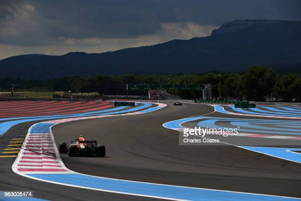 Max Verstappen of the Netherlands driving the Aston Martin Red Bull Racing RB14 TAG Heuer on track during the Formula One Grand Prix of France at...