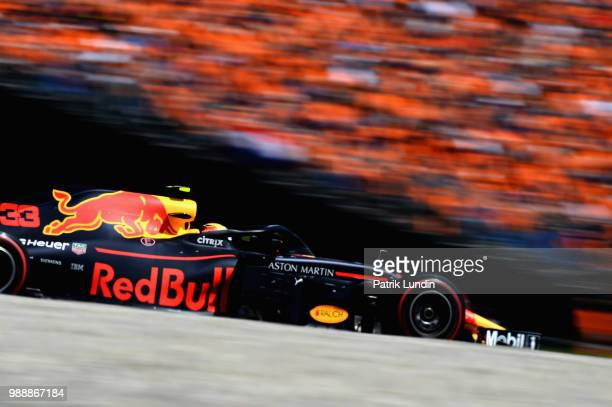 Max Verstappen of the Netherlands driving the Aston Martin Red Bull Racing RB14 TAG Heuer on track during the Formula One Grand Prix of Austria at...