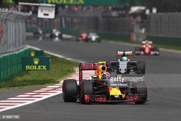 Max Verstappen of the Netherlands driving the Red Bull Racing Red BullTAG Heuer RB12 TAG Heuer on track during the Formula One Grand Prix of Mexico...