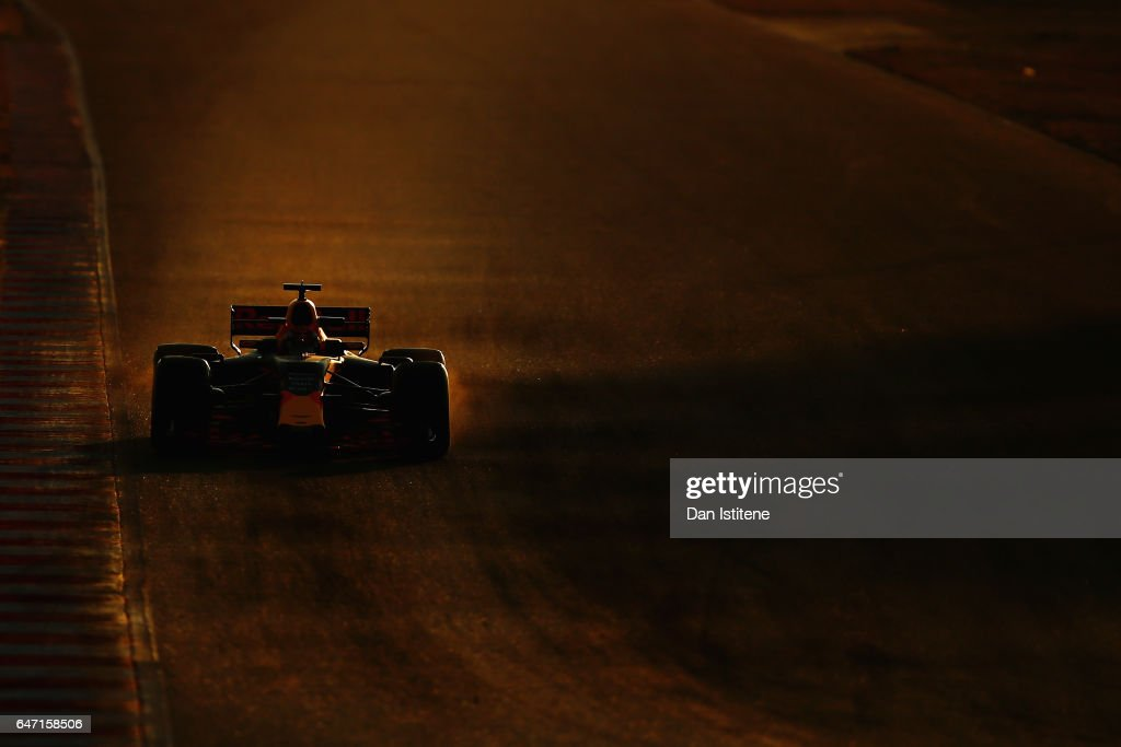 Max Verstappen of the Netherlands driving the (33) Red Bull Racing Red Bull-TAG Heuer RB13 TAG Heuer on track during day four of Formula One winter testing at Circuit de Catalunya on March 2, 2017 in Montmelo, Spain.