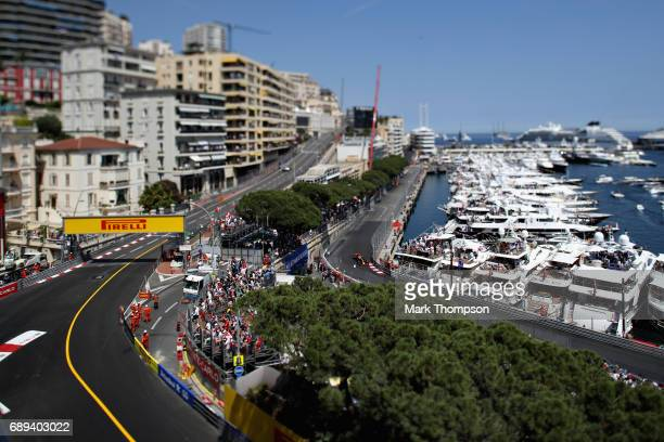 Max Verstappen of the Netherlands driving the Red Bull Racing Red Bull-TAG Heuer RB13 TAG Heuer on track during the Monaco Formula One Grand Prix at...
