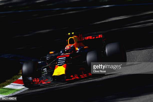 Max Verstappen of the Netherlands driving the Red Bull Racing Red BullTAG Heuer RB13 TAG Heuer on track during the Formula One Grand Prix of Italy at...