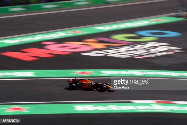 Max Verstappen of the Netherlands driving the Red Bull Racing Red BullTAG Heuer RB13 TAG Heuer on track during qualifying for the Formula One Grand...