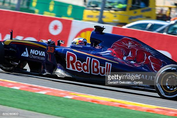 Max Verstappen of the Scuderia Toro Rosso Team during the 2015 Formula 1 Shell Belgian Grand Prix free practise 1 at Circuit de Spa-Francorchamps in...