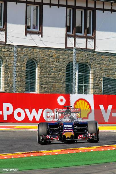 Max Verstappen of the Scuderia Toro Rosso Team\ during the 2015 Formula 1 Shell Belgian Grand Prix free practise 1 at Circuit de Spa-Francorchamps in...