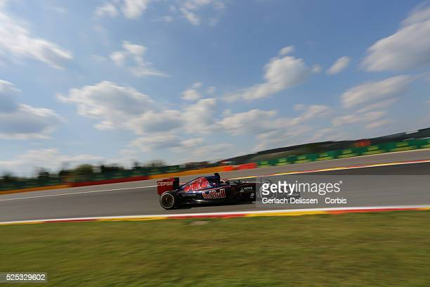 Max Verstappen of the Scuderia Toro Rosso Team during the 2015 Formula 1 Shell Belgian Grand Prix free practice 2 at Circuit de Spa-Francorchamps in...