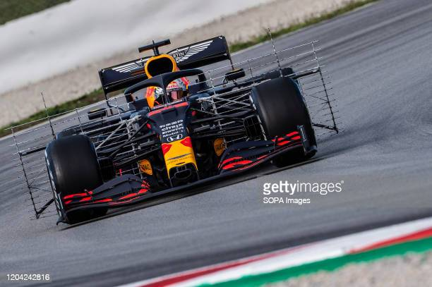 Max Verstappen participates in the tests for the new season of the Formula One Grand Prix at the Circuit de Catalunya in Montmelo