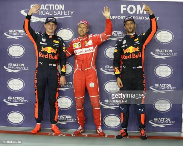 Max Verstappen Red Bull Racing Sebastian Vettel Scuderia Ferrari Daniel Ricciardo Red Bull Racing formula 1 GP Singapore