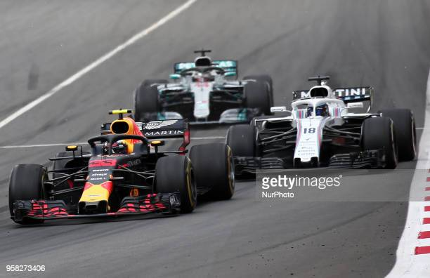 Max Verstappen team Red Bull during the GP Spain F1 on 13th May 2018 in Barcelona Spain