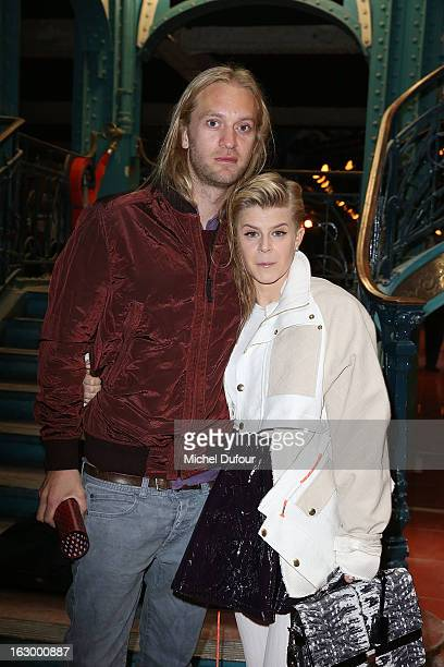 Max Vitali and Robyn attend the Kenzo Fall/Winter 2013 ReadytoWear show as part of Paris Fashion Week on March 3 2013 in Paris France