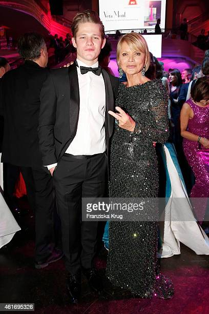 Max von der Groeben and Uschi Glas attend the German Film Ball 2015 on January 17 2015 in Munich Germany