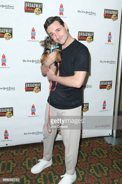 Max von Essen attends the 20th Anniversary Of Broadway Barks at Shubert Alley on July 14 2018 in New York City