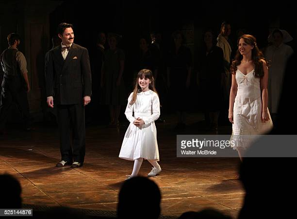 Max Von Essen Maya Jade Frank Rachel Porter during the Broadway Opening Night Performance Curtain Call for 'EVITA' at the Marquis Theatre in New York...