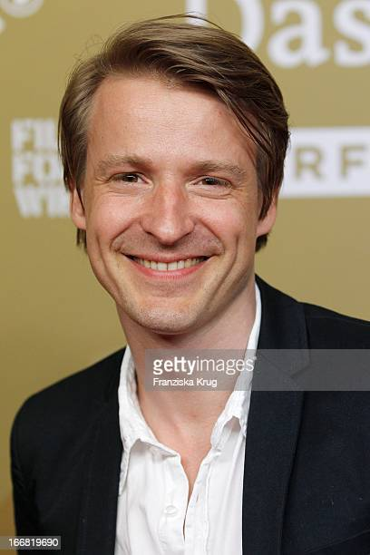 Max von Pufendorf attends the 'Die Ausloeschung' Premiere at Astor Film Lounge on April 17 2013 in Berlin Germany
