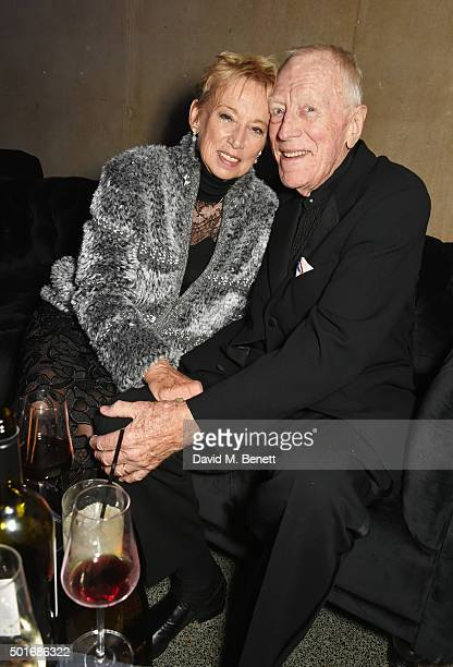 Max von Sydow and Catherine Brelet attend the after party following the European Premiere of Star Wars The Force Awakens at the Tate Britain on...