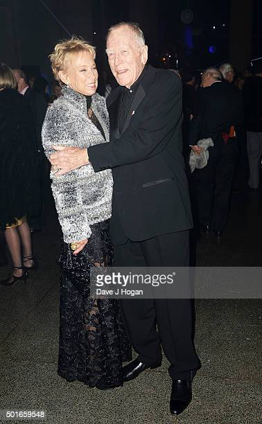 Max von Sydow and Catherine Brelet attend the European Premiere of Star Wars The Force Awakens After Party at Tate Britain on December 16 2015 in...