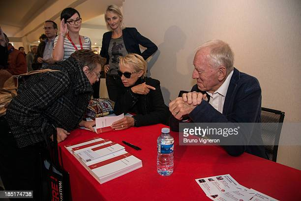 Max von Sydow and his wife Catherine von Sydow attend the 5th Lyon Film Festival on October 17 2013 in Lyon France