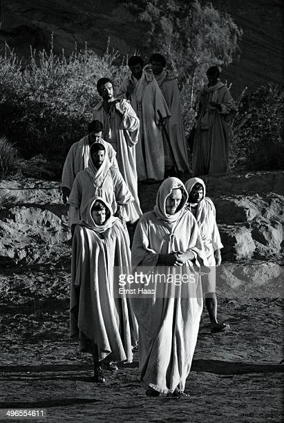 Max von Sydow and John Considine are among the actors filming this scene for the biblical epic 'The Greatest Story Ever Told' circa 1963 Von Sydow...