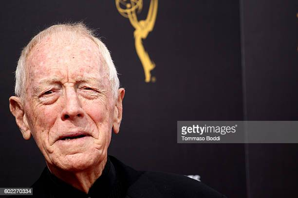 Max von Sydow attends the 2016 Creative Arts Emmy Awards held at Microsoft Theater on September 10 2016 in Los Angeles California