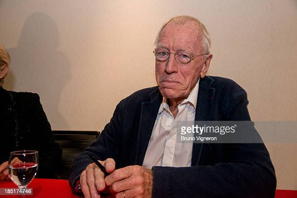 Max von Sydow attends the 5th Lyon Film Festival on October 17 2013 in Lyon France