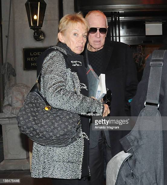 Max Von Sydow with his wife Catherine Brelet sighting on December 10, 2011 in New York City.