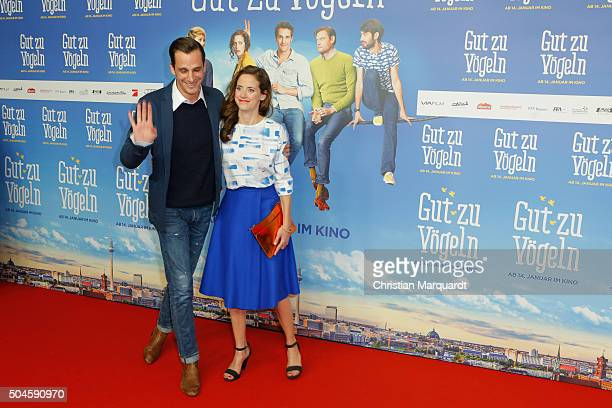 Max von Thun and Anja Knauer attend the premiere of the film 'Gut zu Voegeln' at Kino in der Kulturbrauerei on January 11 2016 in Berlin Germany
