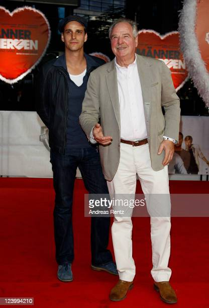 Max von Thun and father Friedrich von Thun attend the 'Maennerherzen 2 und die ganz grosse Liebe' premiere at CineStar on September 7 2011 in Berlin...