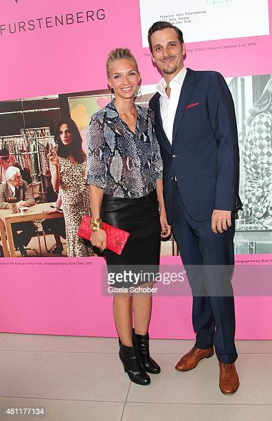 Max von Thun and his girlfriend Kim Eberle attend the private dinner hosted by mytheresacom at Museum Brandhorst on June 24 2014 in Munich Germany