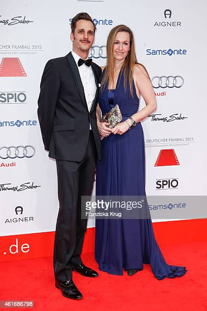 Max von Thun and his sister Gioia von Thun attend the German Film Ball 2015 on January 17 2015 in Munich Germany