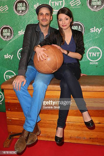 Max von Thun and Julia Hartmann attend 'Add a Friend' Preview Event of TNT Serie at Bayerischer Hof on April 30 2013 in Munich Germany The second...