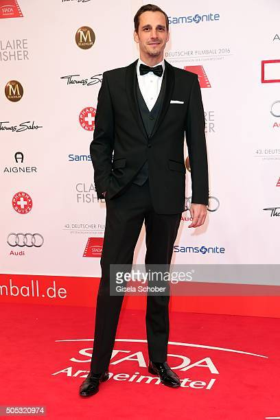 Max von Thun during the German Film Ball 2016 arrival at Hotel Bayerischer Hof on January 16 2016 in Munich Germany