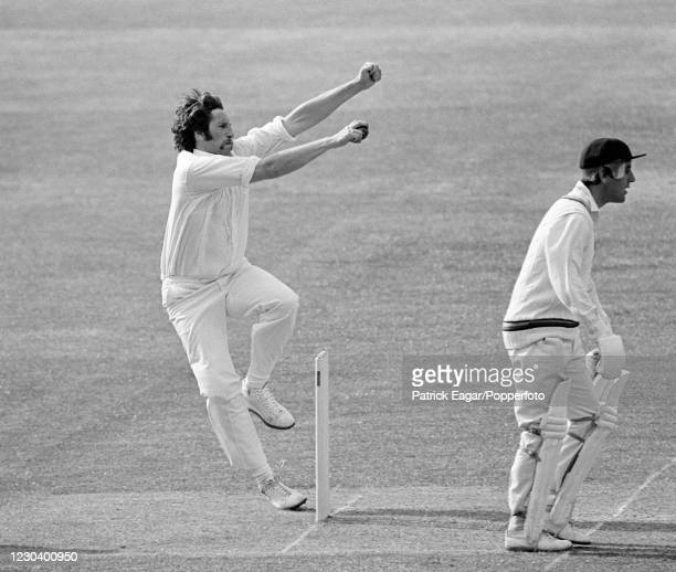 Max Walker bowling for Australia during the tour match between MCC and the Australians at Lord's Cricket Ground, London, 25th May 1977. The...