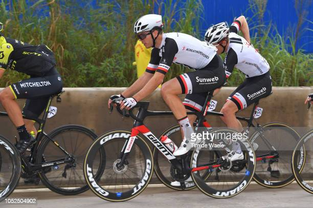 Max Walscheid of Germany and Team Sunweb / Søren Kragh Andersen of Denmark and Team Sunweb / during the 2nd Tour of Guangxi 2018 Stage 4 a 1522km...