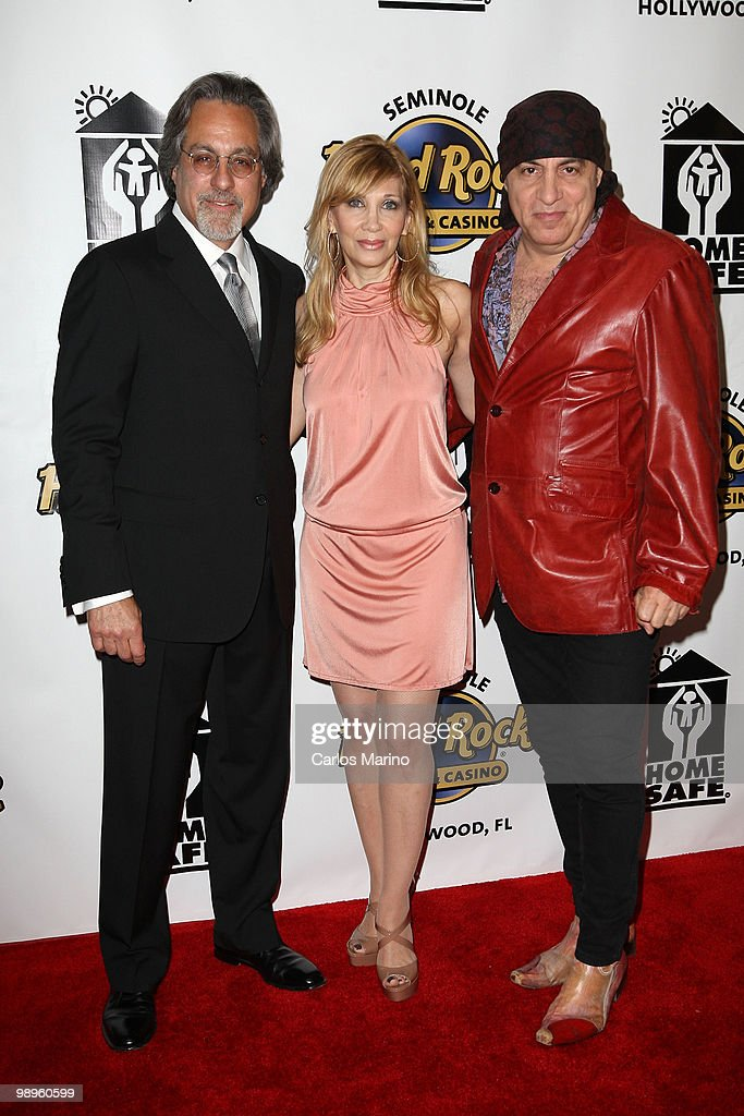 Max Weinber, Steven Van Zandt and and Maureen Van Zandt attend Clarence Clemons Classic Benefitting Homesafe at Seminole Hard Rock Hotel on May 8, 2010 in Hollywood, Florida.