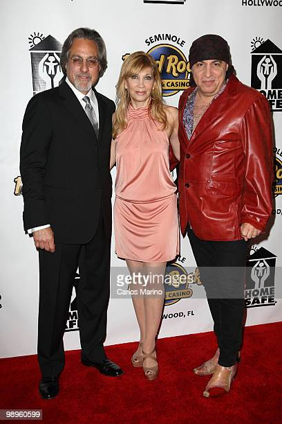 Max Weinber Steven Van Zandt and and Maureen Van Zandt attend Clarence Clemons Classic Benefitting Homesafe at Seminole Hard Rock Hotel on May 8 2010...