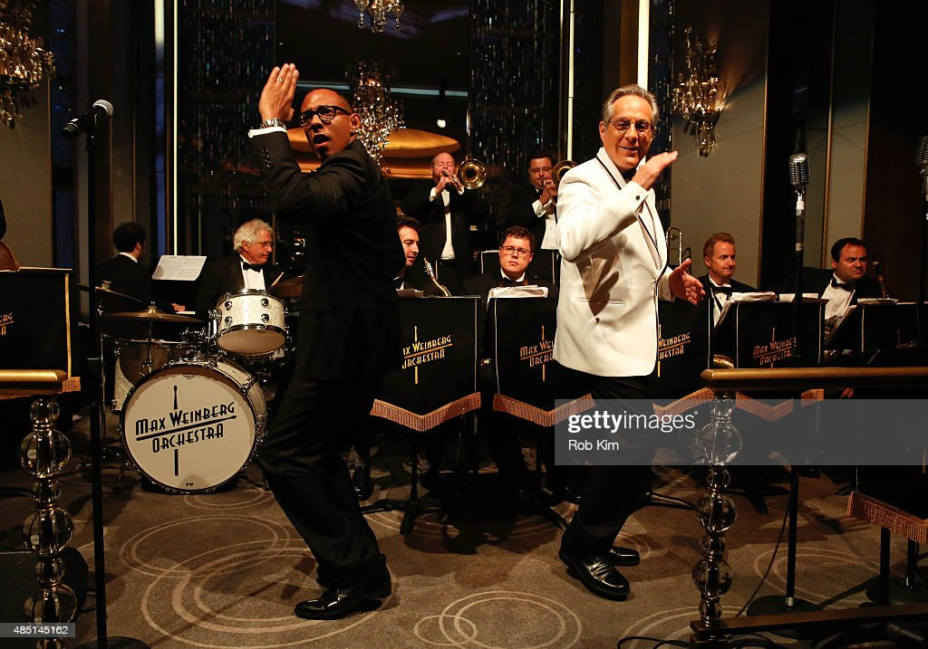 Max Weinberg (R) and Gerardo Contino perform during Mondays With Max: Max Weinberg's Rainbow Room Residency at The Rainbow Room on August 24, 2015 in New York City.