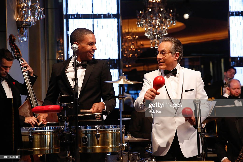 Max Weinberg (R) performs with his band during Mondays With Max: Max Weinberg's Rainbow Room Residency at The Rainbow Room on August 24, 2015 in New York City.