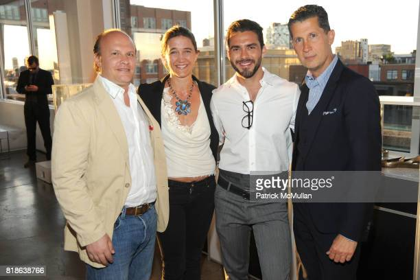 Max Weiner Vanessa von Bismarck Lorenzo Martone and Stefano Tonchi attend MELISSA Plastic Dreams Rooftop Party at MILK Penthouse on June 8 2010 in...