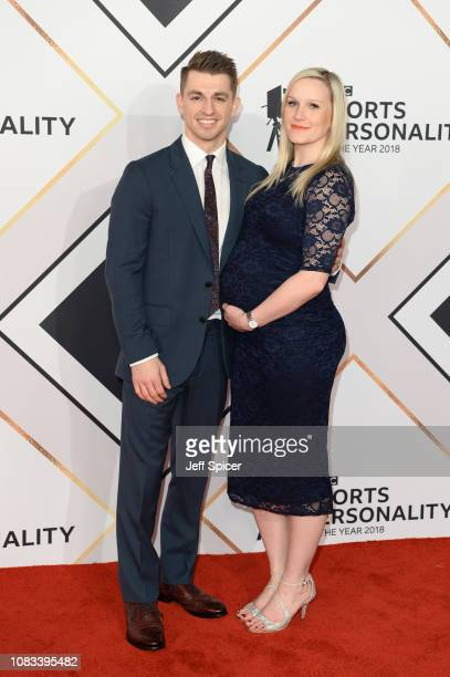 Max Whitlock and Leah Hickton attend the 2018 BBC Sports Personality Of The Year at The Vox Conference Centre on December 16 2018 in Birmingham...