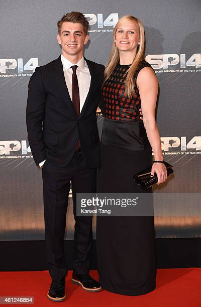 Max Whitlock and Leah Hickton attend the BBC Sports Personality of the Year awards at The Hydro on December 14 2014 in Glasgow Scotland