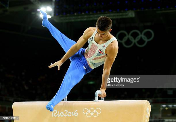 Max Whitlock of Great Britain competes on the pommel horse during the Men's Individual AllAround final on Day 5 of the Rio 2016 Olympic Games at the...