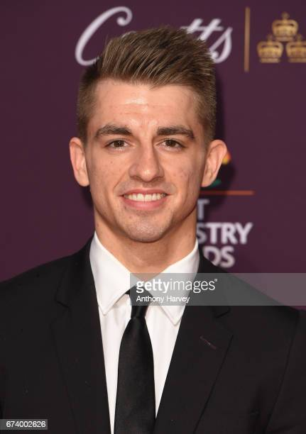 Max Whitlock poses on the red carpet during the BT Sport Industry Awards 2017 at Battersea Evolution on April 27 2017 in London England The BT Sport...
