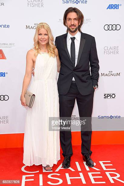 Max Wiedemann and his girlfriend Tina Kaiser attend the German Film Ball 2017 at Hotel Bayerischer Hof on January 21 2017 in Munich Germany