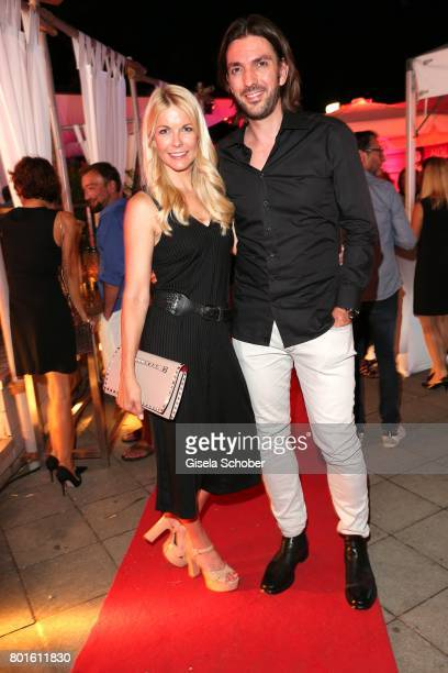 MUNICH GERMANY JUNE 26 Max Wiedemann and his partner Tina Kaiser during the Movie meets Media Party during the Munich Film Festival on June 26 2017...