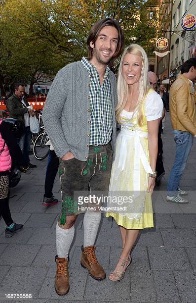 Max Wiedemann and Tina Kaiser attend the 'Tegernsee Tal Braeuhaus' Opening on May 14 2013 in Munich Germany