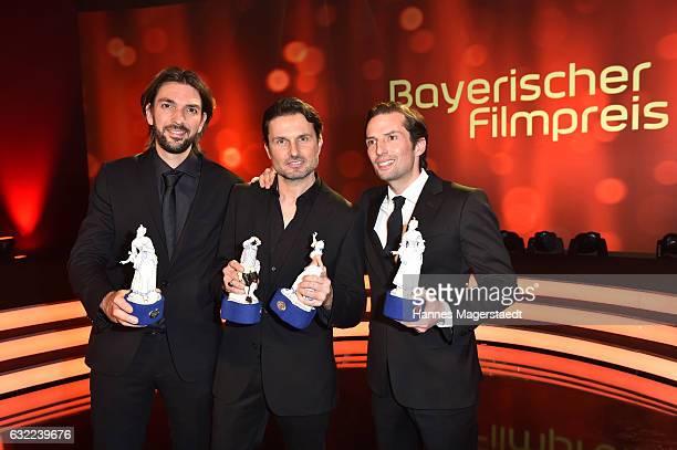 Max Wiedemann Simon Verhoeven and Quirin Berg attend the Bayerischer Filmpreis 2017 at Prinzregententheater on January 20 2017 in Munich Germany