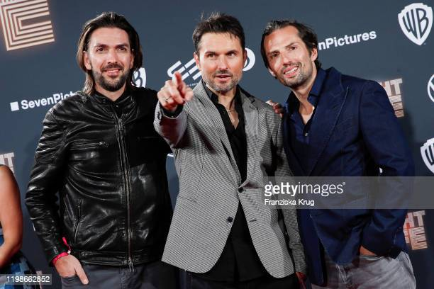 Max Wiedemann Simon Verhoeven and Quirin Berg attend the premiere of Nightlife at Zoo Palast on February 4 2020 in Berlin Germany
